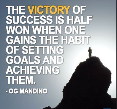 Og-Mandino-uplifting-and-motivational-image-quote-about-victory-success-goal-gainning-the-habit-of-setting-and-achieving-goals-that-you-set-for-yourself.