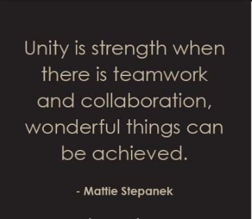 Inspirational Unity Quotes and Images about Being United with One Another to Achieve Peace and Success - Teamwork-and-collaboration-Quote-about-unity-is-strength.