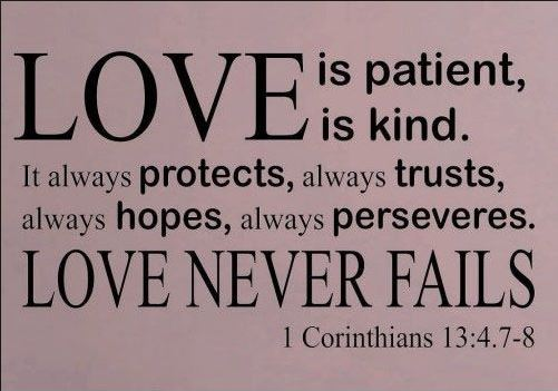 ... Bible Verse About Love Patient Kind Protects Trusts  ...