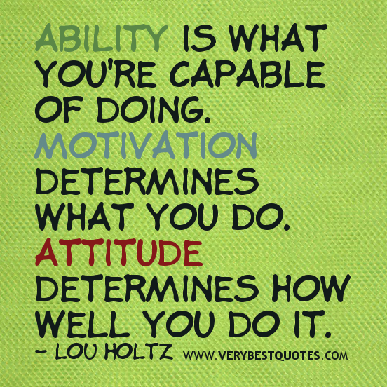 quotes about attitude and effort quotesgram