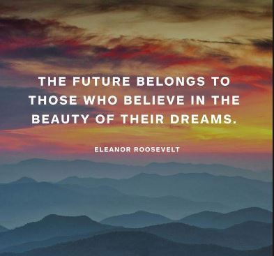 Eleanor-Roosevelt-quote-about-dream-believing-in-your-own-goals-and-dreams-and-taking-consistent-actions-on-them-until-you-turn-them-into-success.