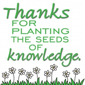 Quotes  Good Employees  Thanks for planting the seeds of knowledge