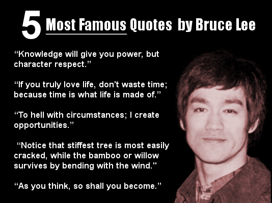 ... Quotes by Bruce Lee – Quote - five most famous quotes from bruce lee