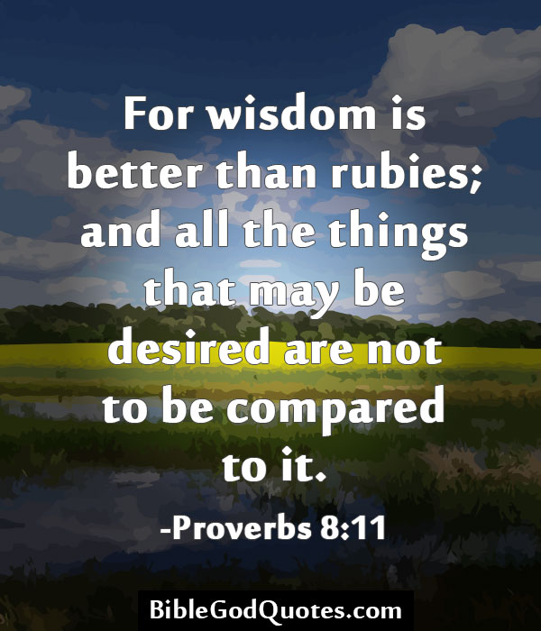 Wisdom And Images: God's Wisdom And Understanding Bible Verses