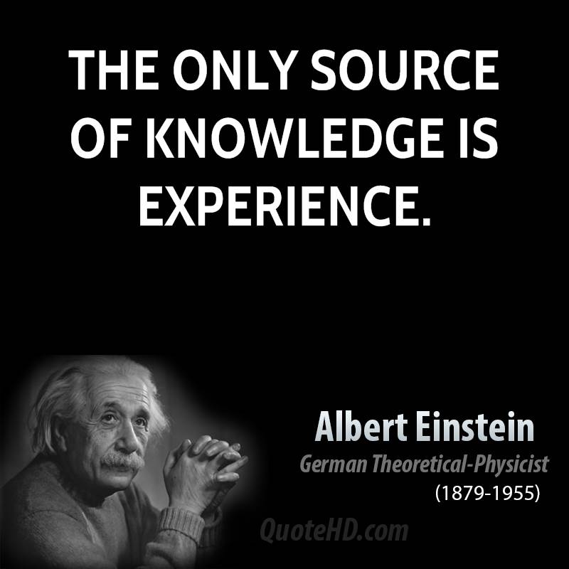 knowledge and experience quotes quotesgram