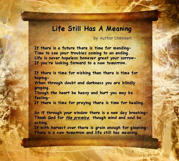 Life Quotes Poetry: Inspirational Poem About The True Meaning Of Life