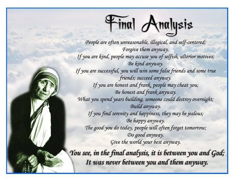 an introduction to the life of a wonderful woman mother teresa Mother teresa was a a woman was required to wait eight years before taking her final vows to be a missionary for the rest of her life women who joined the.