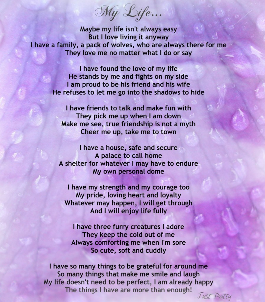 "Encouraging Life Poem – ""My Life"""