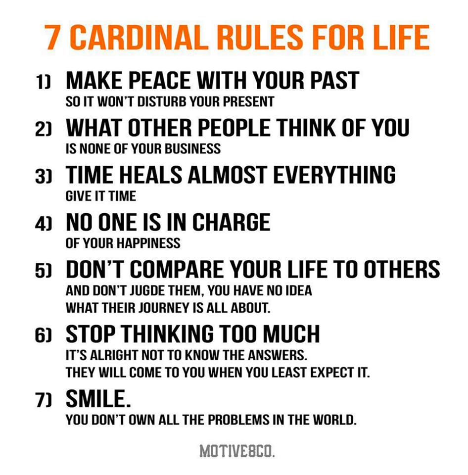7 Rules Of Life Quote A Life Of Success And Happiness  Motivational Images And Quotes