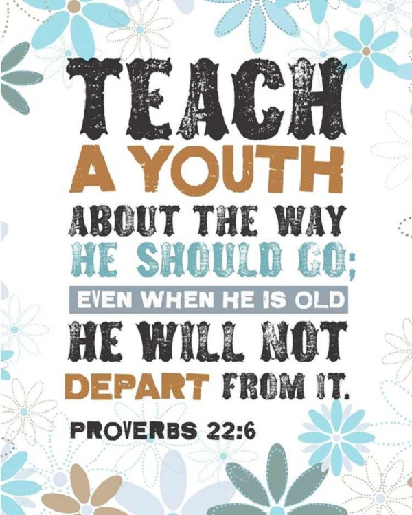 Bible Proverbs about teaching a youth the righteous way to live