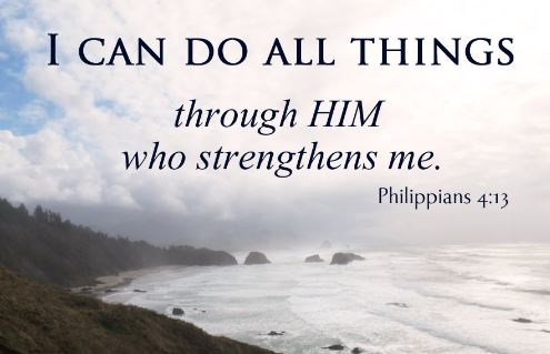 Philippians 4 13 about the Lord who strengthens you - You can do all things through God - image - Images