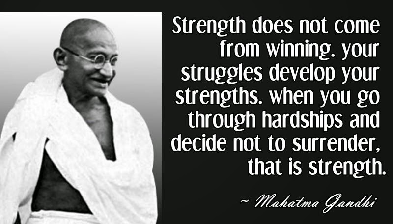 Strength Comes From Struggle Strengths Come From Struggles