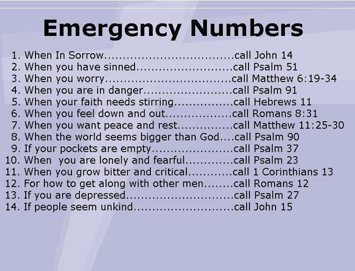 emergency constanct numbers for tough times, stressful times, confusing, critical, depressing, difficult,
