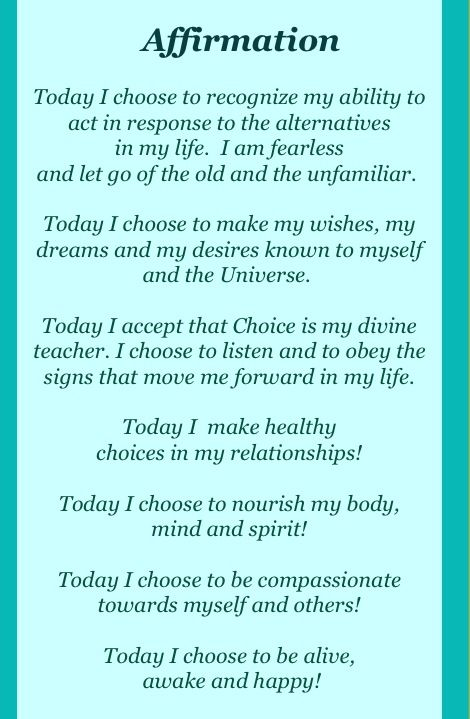 Positive-affirmations-abilities-desires-and-choices - transform your life by feeding your mind with constant words of positive encouragement.