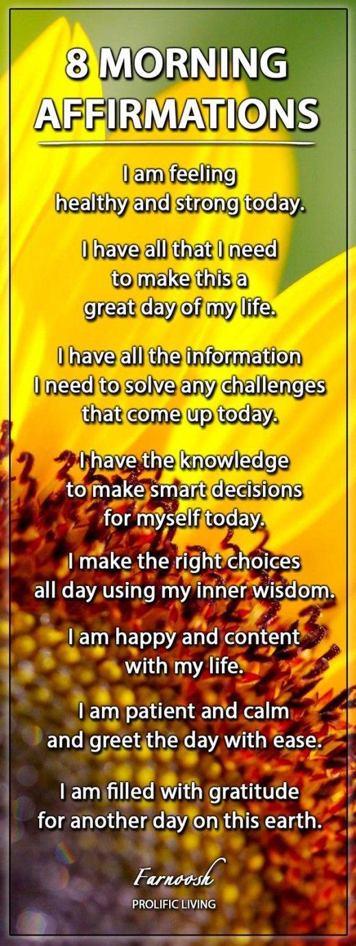 positive-morning-affirmations - affirmation
