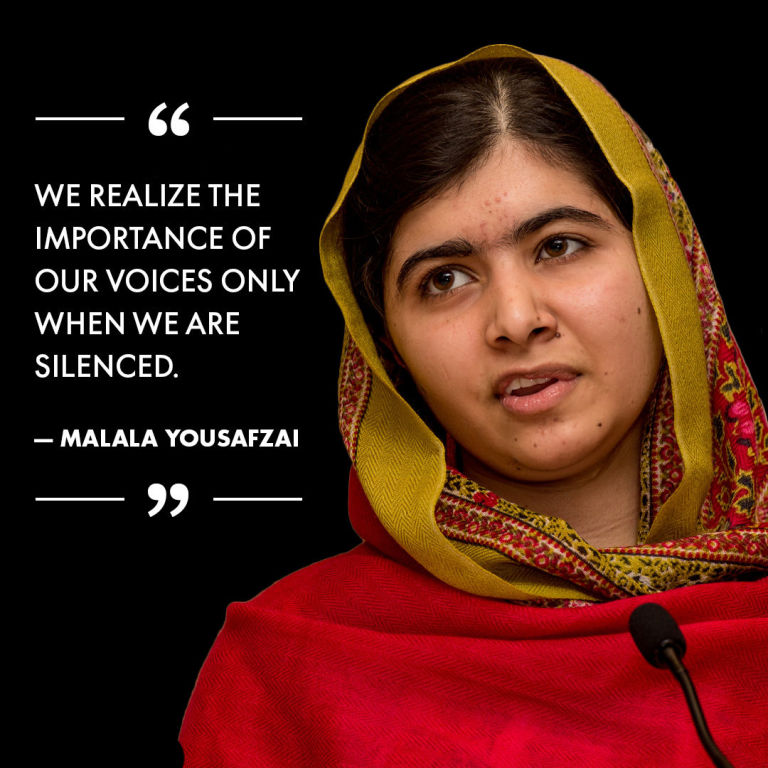 Malala-Yousafzai-quote-about-making-your-voice-count-as-a-woman-instead-leaving-in-fear-and-believing-that-you-dont-matter.