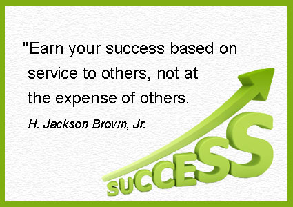 success-by-rendering-service-to-people-instead-of-becoming-successful-by-taking-advantage-of-people-Jackson-Brown-quotes-and-images-about-working-together-to-achieve-more-positive-results.